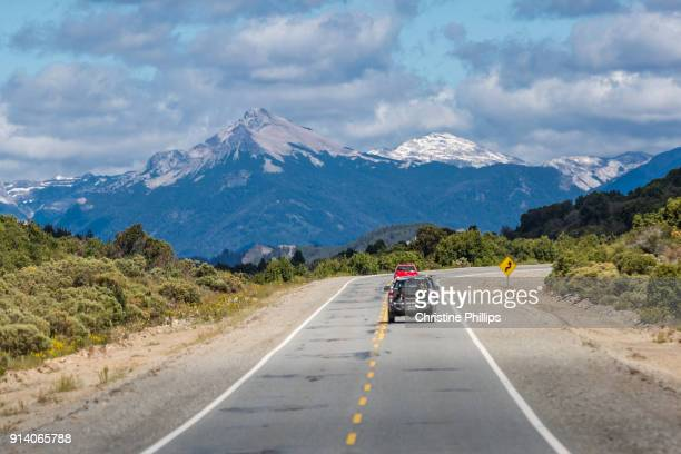 Open road in the Andes Mountains