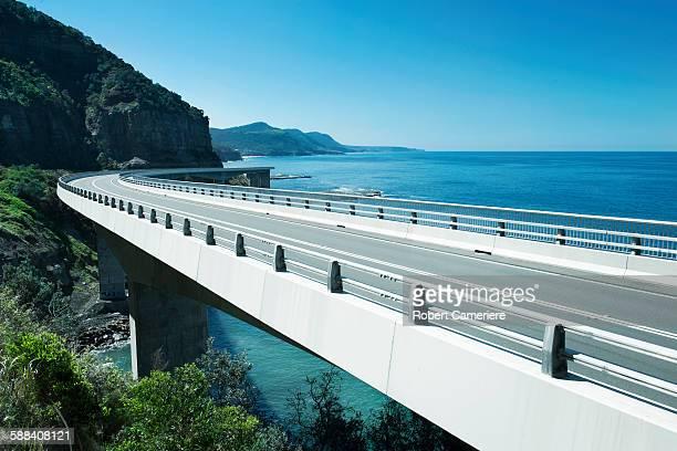 Open road near the sea