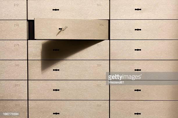 Open safety deposit box