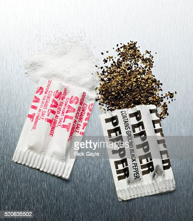 Open Salt And Pepper Packets Stock Photo - Getty Images