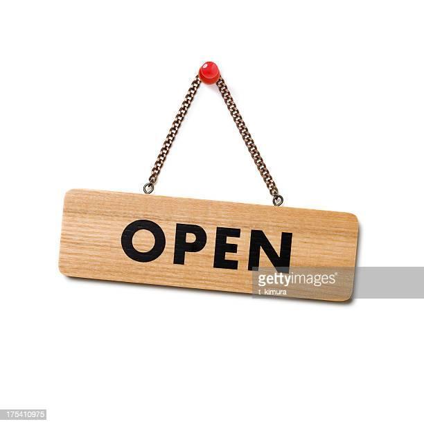 señal de abierto - cartel fotografías e imágenes de stock