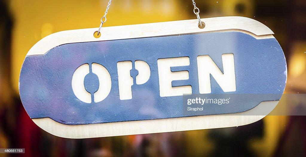 Placa de Open : Foto de stock