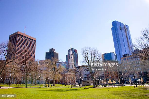 Open space of Boston Common in early spring
