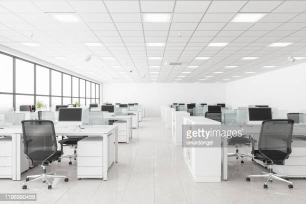 open space office - no people stock pictures, royalty-free photos & images