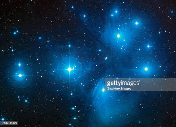 Open star cluster known as the Pleiades, or Seven Sisters.