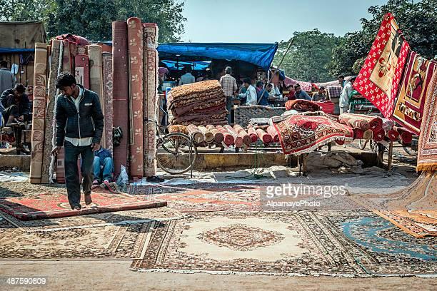 Offener Straße Markt in der Altstadt von Delhi Jama Masjid
