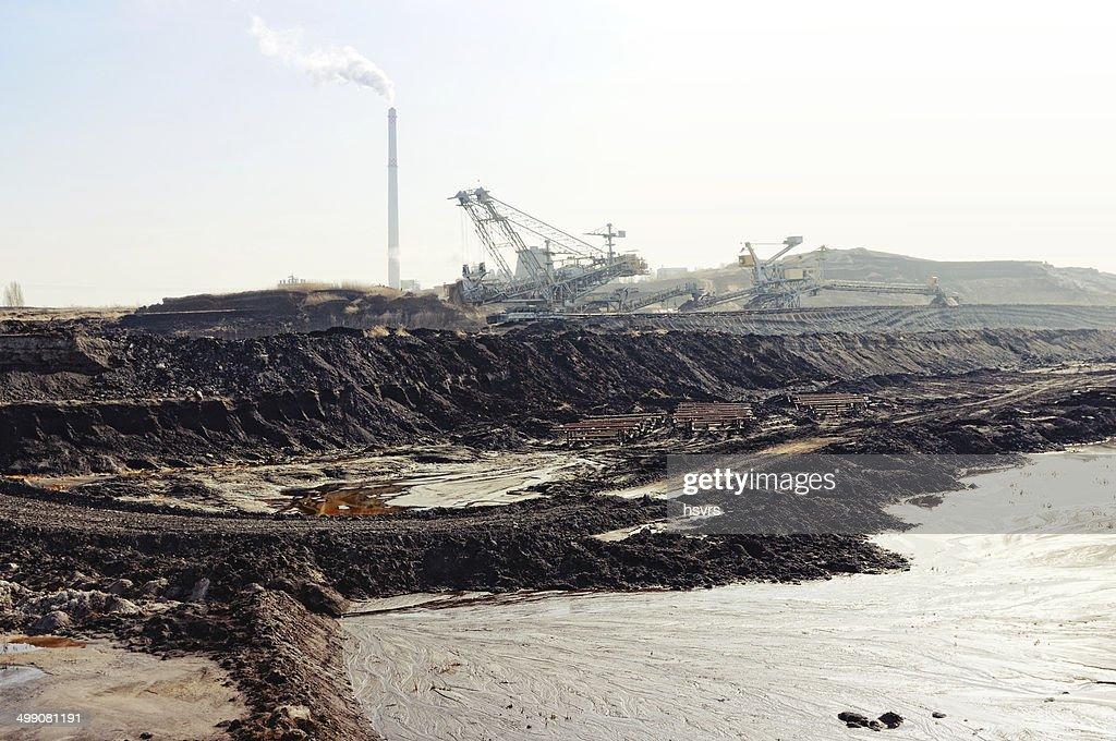 open Strip Coal mine : Stock Photo