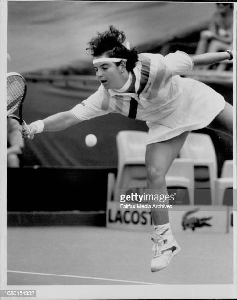 NSW Open Tennis At White city SydneyWinner of the womens singles ASanchezVicario Defeated Zina Garrison of the USA January 12 1991