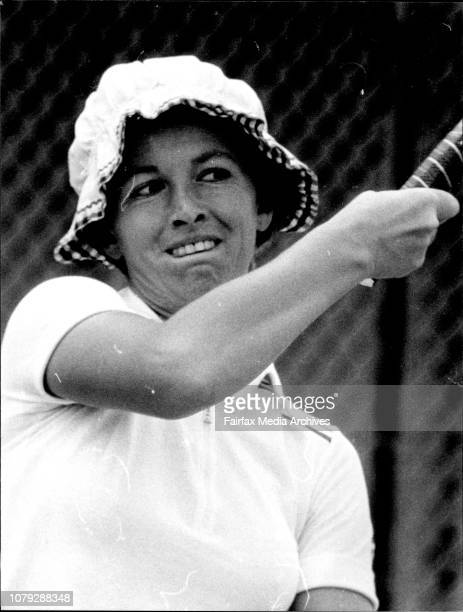 NSW Open Tennis championship at White city Women'sK Ebbinghaus form West Germany beating S Saliba from Victoria Closeup pics of K Ebbinghaus November...