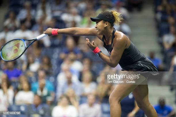 Open Tennis Tournament Day Eleven Naomi Osaka of Japan in action against Madison Keys of the United States in the Women's Singles Semi Final match on...