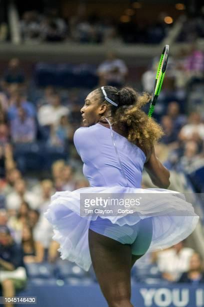 Open Tennis Tournament Day Eleven Serena Williams of the United States in action against Anastasija Sevastova of Latvia in the Women's Singles Semi...