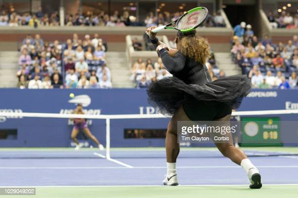 Open Tennis Tournament Day Five Serena Williams of the United States in action against sister Venus Williams of the United States in the Women's...