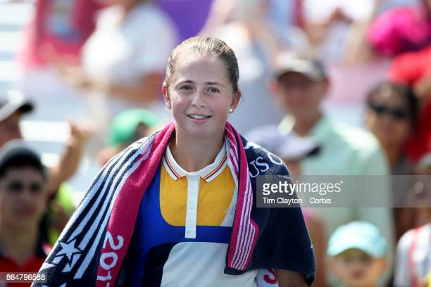 S Open Tennis Tournament DAY FOUR Jelena Ostapenko of Latvia after her victory against Sorana Cirstea of Romania during the Women'u2019s Singles...