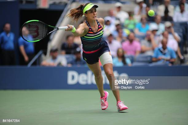 S Open Tennis Tournament DAY FOUR NicoleGibbs of the United States in action against Karolina Pliskova of the Czech Republic during the Women's...