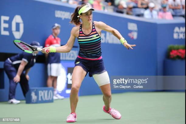 S Open Tennis Tournament DAY FOUR Nicole Gibbs of the United States in action against Karolina Pliskova of the Czech Republic during the Women's...