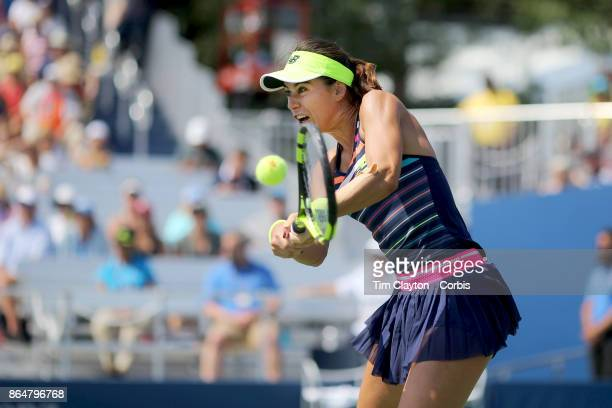 S Open Tennis Tournament DAY FOUR Sorana Cirstea of Romania in action against Jelena Ostapenko of Latvia during the Women'u2019s Singles round two...
