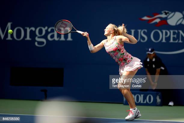 S Open Tennis Tournament DAY FOURTEEN Katerina Siniakova of the Czech Republic in action in the Women's Doubles Final at the US Open Tennis...