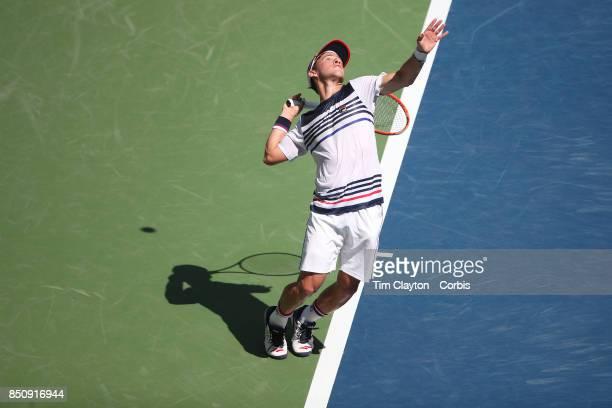 S Open Tennis Tournament DAY NINE Diego Schwartzman of Argentina in action against Pablo Carreno Busta of Spain in the Men's Singles Quarterfinal...