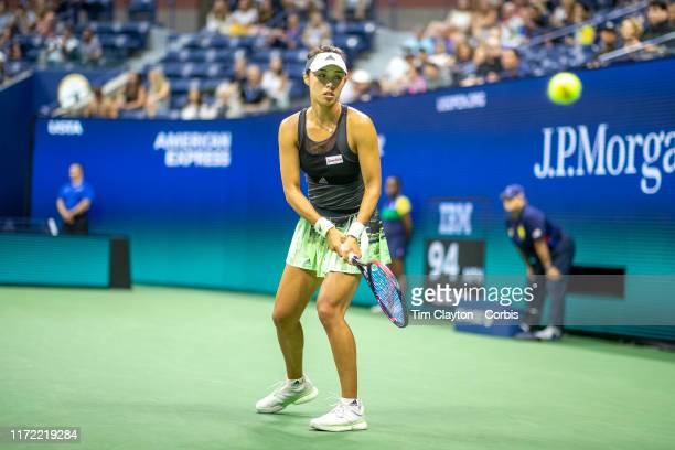 Open Tennis Tournament- Day Nine. Qiang Wang of China during her match against Serena Williams of the United States in the Women's Singles...