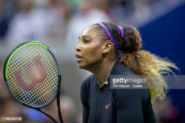 Open Tennis Tournament- Day Nine. Serena Williams of the United States in action against Qiang Wang of China in the Women's Singles Quarter-Finals...