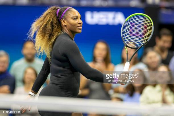 Open Tennis Tournament Day Nine Serena Williams of the United States after her victory against Qiang Wang of China in the Women's Singles...