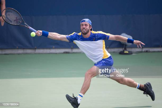 Open Tennis Tournament- Day One. Paolo Lorenzi of Italy in action against against Kyle Edmund of Great Britain on Court thirteen at the 2018 US Open...