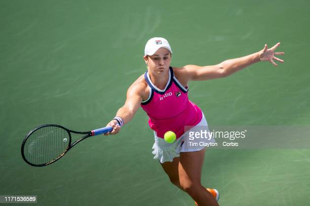 Open Tennis Tournament Day Seven Ashleigh Barty of Australia in action against Qiang Wang of China in the Women's Singles round four match on Louis...