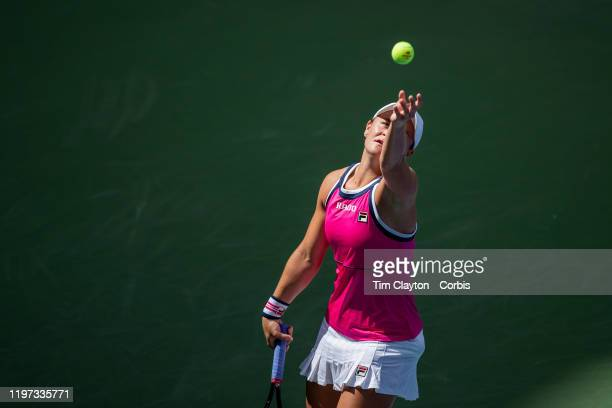 Open Tennis Tournament- Day Seven. Ashleigh Barty of Australia in action against Qiang Wang of China in the Women's Singles round four match on Louis...