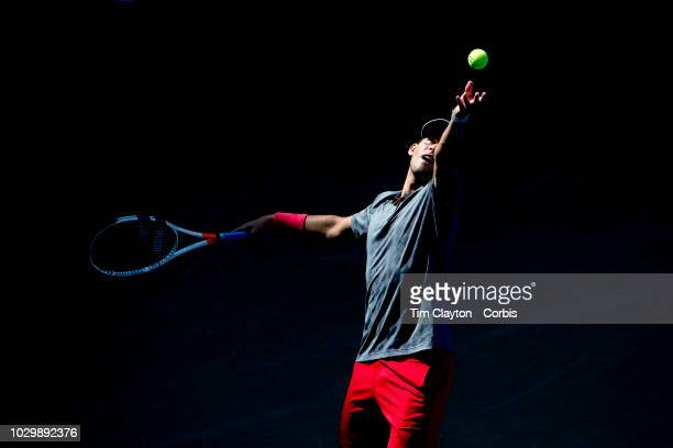 Open Tennis Tournament Day Seven Dominic Thiem of Austria in action against Kevin Anderson of South Africa in the Men's Singles round four match on...