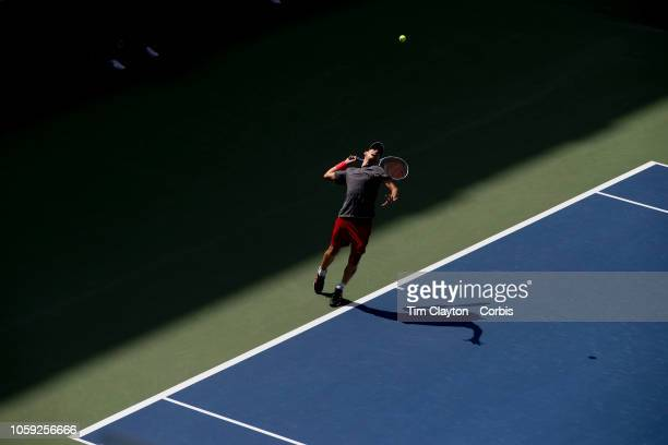 Open Tennis Tournament- Day Seven. Dominic Thiem of Austria in action against Kevin Anderson of South Africa in the Men's Singles round four match on...