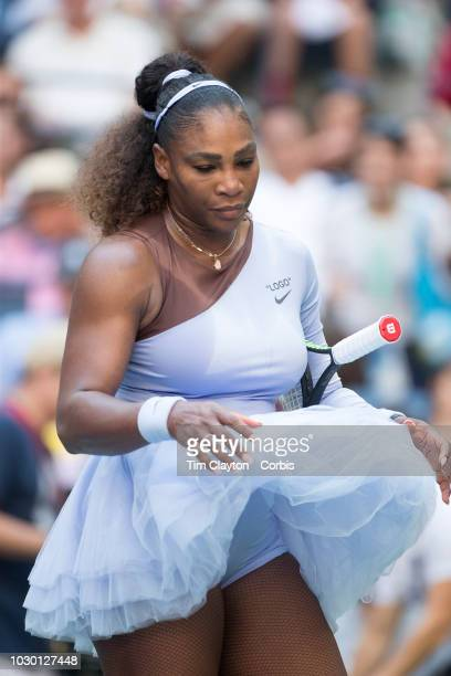 Open Tennis Tournament Day Seven Serena Williams of the United States during her match against Kaia Kanepi of Estonia in the Women's Singles round...