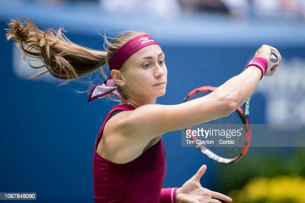 Open Tennis Tournament Day Six Aleksandra Krunic of Serbia in action against Madison Keys of the United States in the Women's Singles round three...