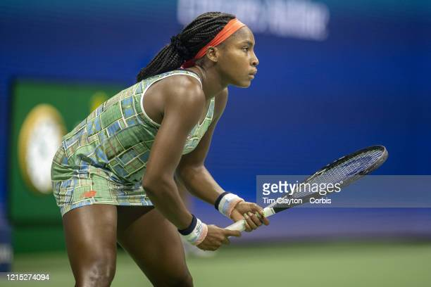 Open Tennis Tournament Day Six Coco Gauff of the United States in action against Naomi Osaka of Japan in the Women's Singles Round three match on...
