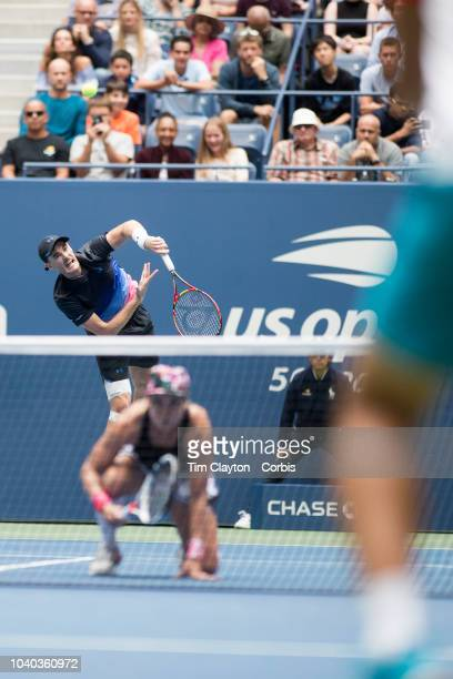 Open Tennis Tournament- Day Thirteen. Bethanie Mattek-Sands of the United States in action with Jamie Murray of the United Kingdom while winning the...