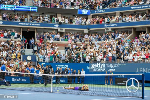 Open Tennis Tournament Day Thirteen Bianca Andreescu of Canada celebrates her win against Serena Williams of the United States in the Womenu2019s...