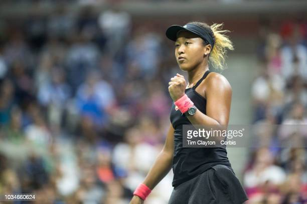 Open Tennis Tournament Day Thirteen Naomi Osaka of Japan in action against Serena Williams of the United States in the Women's Singles Final on...