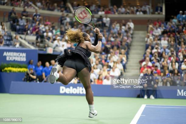Open Tennis Tournament Day Thirteen Serena Williams of the United States in action against Naomi Osaka of Japan in the Women's Singles Final on...