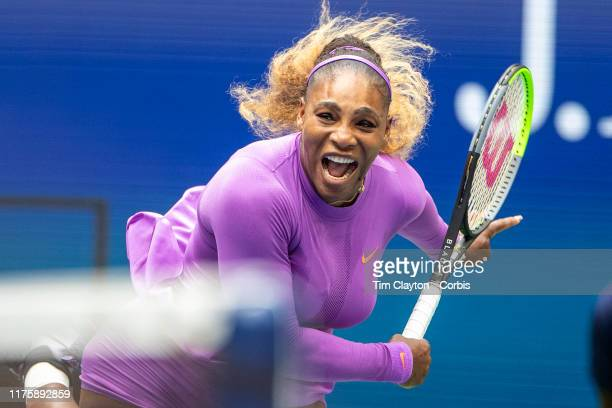 Open Tennis Tournament Day Thirteen Serena Williams of the United States in action against Bianca Andreescu of Canada in the Women's Singles Final on...
