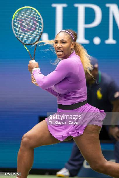 Open Tennis Tournament- Day Thirteen. Serena Williams of the United States in action against Bianca Andreescu of Canada in the Women's Singles Final...
