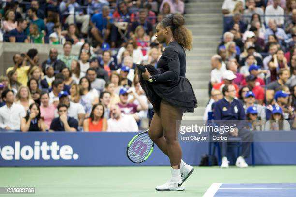 Open Tennis Tournament Day Thirteen Serena Williams of the United States during her match against Naomi Osaka of Japan in the Women's Singles Final...