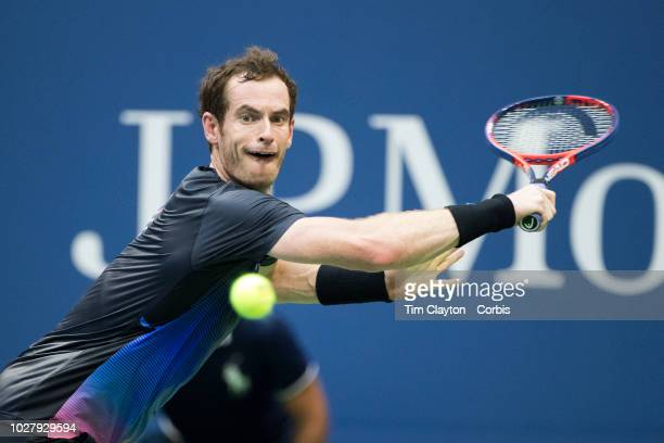 Open Tennis Tournament Day Three Andy Murray of the United Kingdom in action against Fernando Verdasco of Spain in the Men's Singles round two match...