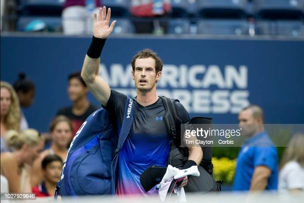 Open Tennis Tournament Day Three Andy Murray of the United Kingdom after his loss against Fernando Verdasco of Spain in the Men's Singles round two...