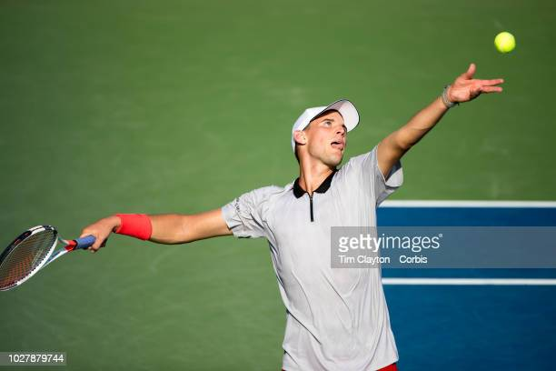 Open Tennis Tournament- Day Three. Dominic Thiem of Austria in action against Steve Johnson of the United States in the Men's Singles round two match...