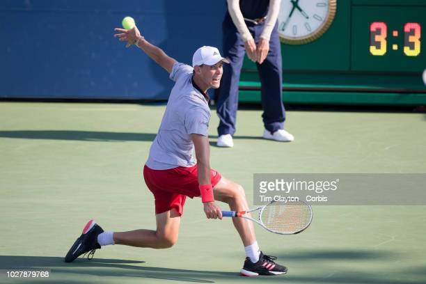 Open Tennis Tournament Day Three Dominic Thiem of Austria in action against Steve Johnson of the United States in the Men's Singles round two match...