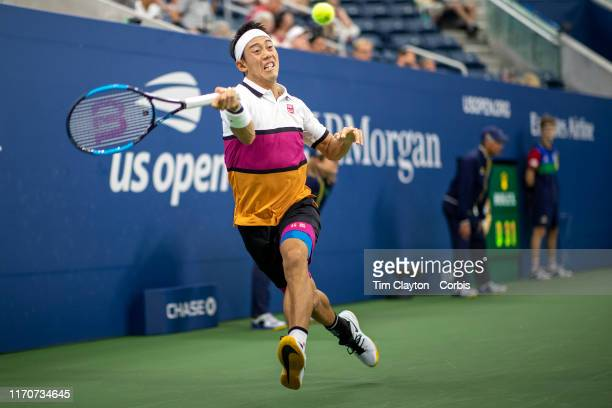 Open Tennis Tournament Day Three Kei Nishikori of Japan in action against Bradley Klahn of the United States in the Men's Singles Round Two match on...
