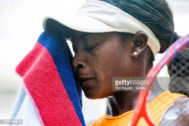 Open Tennis Tournament Day Three Sloane Stephens of the United States during mer match against Anhelina Kalinina of the Ukraine in the Women's...