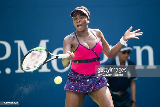 Open Tennis Tournament Day Three Venus Williams of the United States in action against CamilaGiorgi of Italy in the Women's Singles round two match...