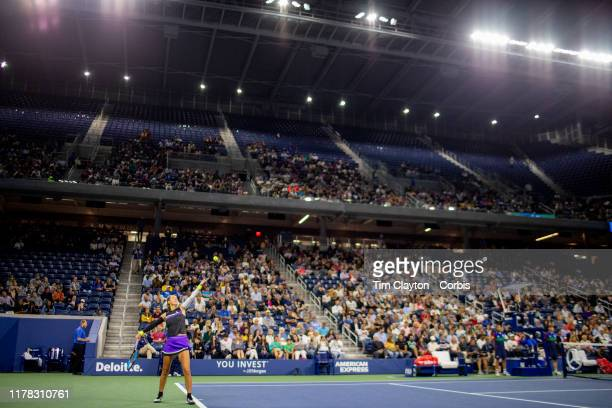 Open Tennis Tournament- Day Two. Victoria Azarenka of Belarus in action against Aryna Sabalenka of Belarus in the Women's Singles Round One match on...