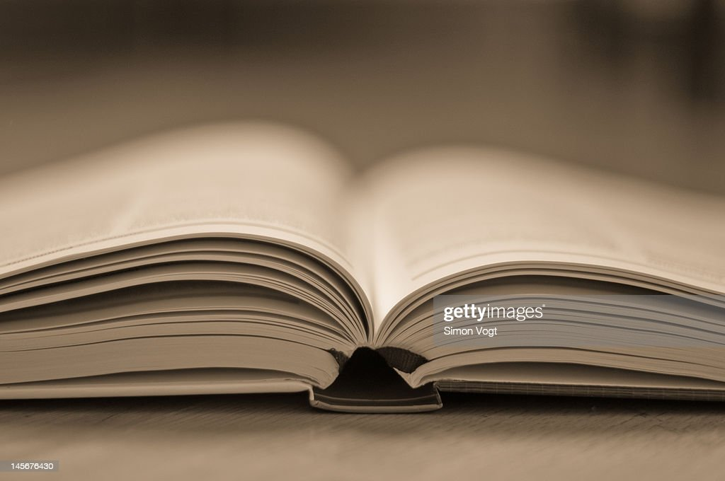 Open text book : Stock Photo