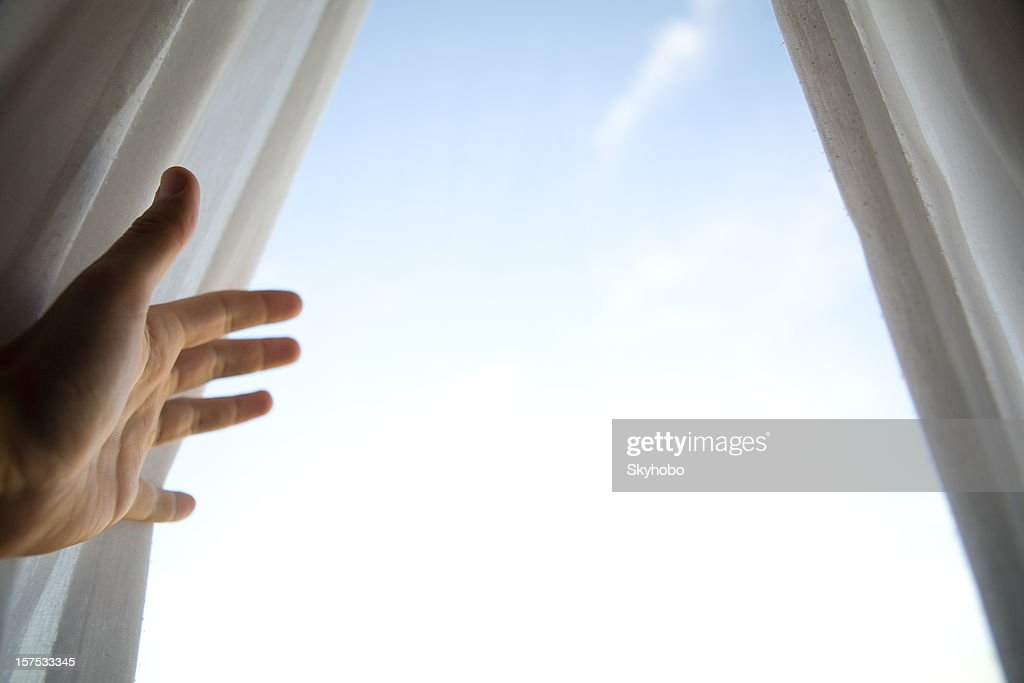 Open the Curtains : Stock Photo